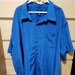 Harbor Bay Mens Blue Shirt Short Sleeve 5XL